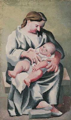 Foto de Madre y niño de Picasso