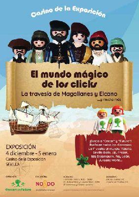 Cartel de la exposición El mundo mágico de los clicks en Casino de la Exposición Sevilla 2019