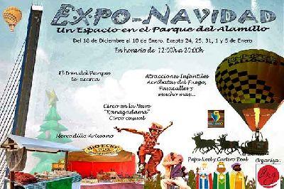 Cartel de Expo-Navidad en el parque del Alamillo de Sevilla 2020-2021