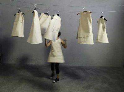 Imagen de la exposición Pegando la hebra... texturas de lo textil