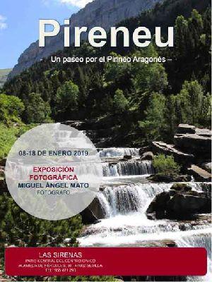Cartel de la exposición Pireneu. Un paseo por el Pirineo aragonés en la Casa de las Sirenas de Sevilla