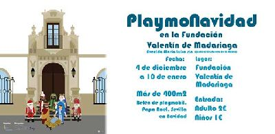 Cartel de la exposición Playmonavidad en la Fundación Madariaga Sevilla 2020-2021