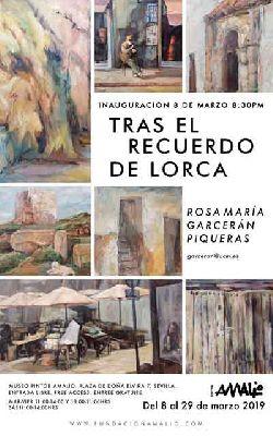 Cartel de la exposición Tras el recuerdo de Lorca