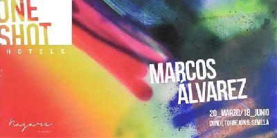 Cartel de la exposición Saturación de Marcos Álvarez