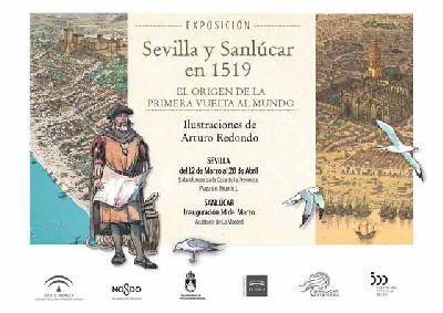 Cartel de la exposición Sevilla y Sanlúcar en 1519. El origen de la primera vuelta al mundo