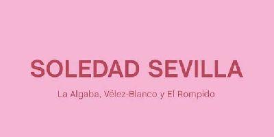 Cartel de la exposición Soledad Sevilla. La Algaba, Vélez-Blanco, El Rompido