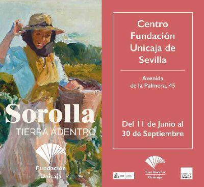 Cartel de la exposición Sorolla tierra adentro en el Centro Fundación Unicaja de Sevilla