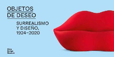 Cartel de la exposición Objetos de deseo. Surrealismo y diseño, 1924-2020 en CaixaForum Sevilla
