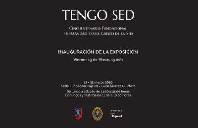 Cartel de la exposición Tengo sed en Cajasol 2020