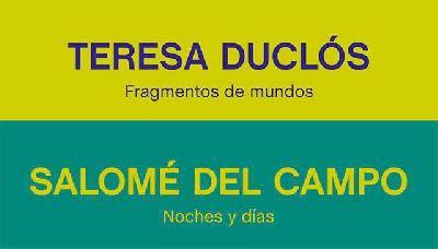 Cartel de las exposiciones Teresa Duclós y Salomé del Campo en el CAAC de Sevilla