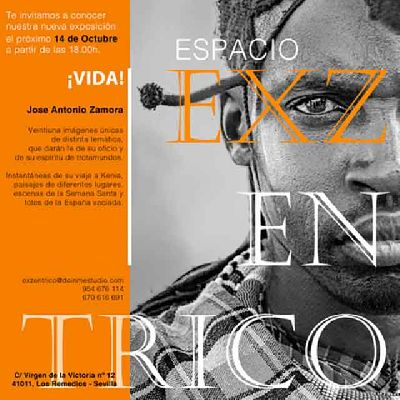 Cartel de la exposición ¡Vida! en el Espacio EXZéntrico de Sevilla 2021