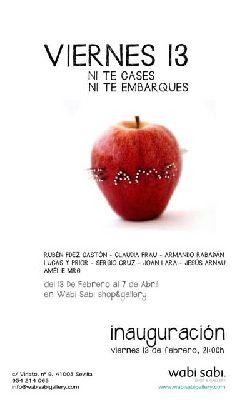 Exposición: Viernes 13, ni te cases ni te embarques en Wabi Sabi Sevilla