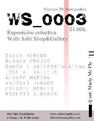 Exposición: WS_0003 en la Galería Wabi Sabi de Sevilla