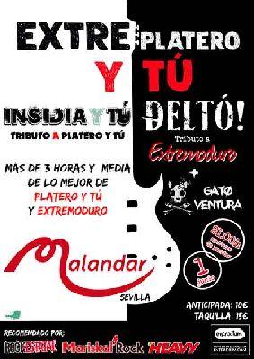 Cartel del concierto de Extreplatero y tú en Malandar Sevilla 2019