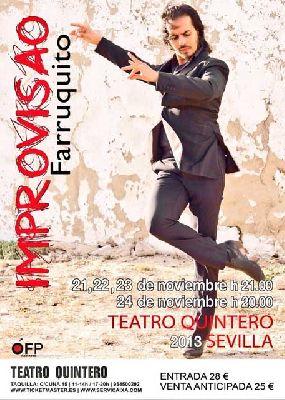 Flamenco: Farruquito improvisao en el Teatro Quintero de Sevilla