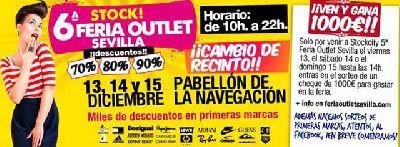 Stock! VI Feria Outlet Sevilla en el Pabellón de la Navegación