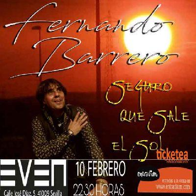 Concierto: Fernando Barrero en la Sala Even Sevilla (febrero 2018)