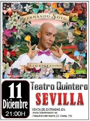 Concierto: Fernando Soto en el Teatro Quintero de Sevilla