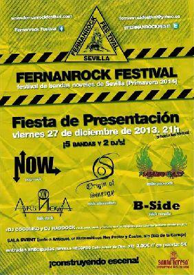 Presentación del Festival Fernanrock en la Sala Events de Sevilla