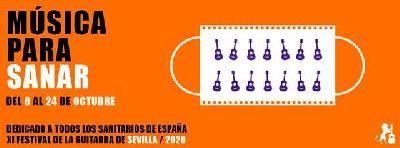 Cartel del XI Festival de la guitarra de Sevilla 2020