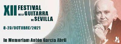Cartel del XII Festival de la guitarra de Sevilla 2021