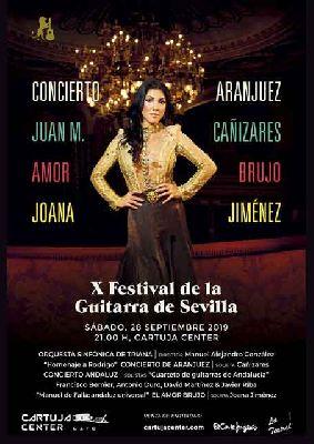 Cartel del concierto inaugural del IX Festival de la Guitarra de Sevilla 2019
