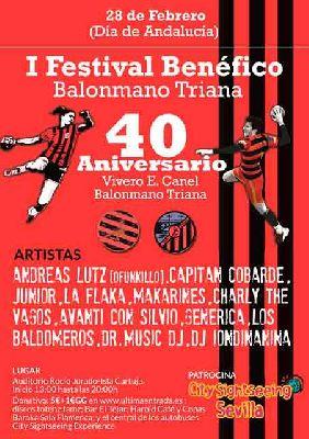 I Festival Benéfico Balonmano Triana en el Auditorio Rocío Jurado de Sevilla 2018