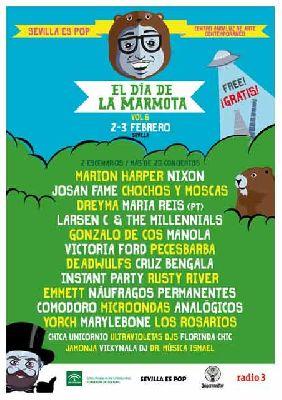 Cartel del festival El Día de la Marmota 2019 en el Centro Andaluz de Arte Contemporáneo (CAAC) de Sevilla