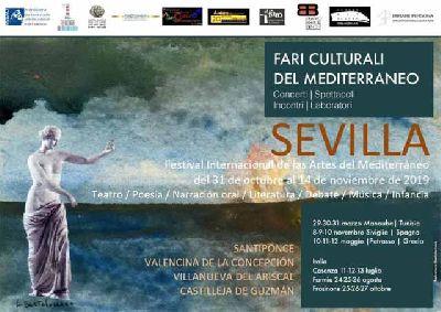 Cartel del I Festival Faros Culturales del Mediterráneo en Sevilla 2019