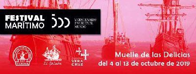 Cartel del Festival Marítimo V Centenario en Sevilla 2019