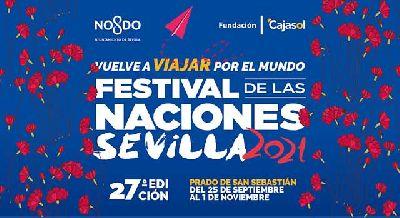 Cartel del XXVII Festival de las Naciones de Sevilla 2021