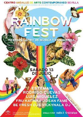 Cartel del festival Rainbow Fest 2019 en el CAAC Sevilla