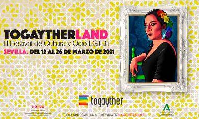 Cartel del III Festival Togaytherland de Cultura y Ocio LGTB+ 2021