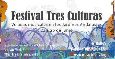 Cartel del Festival Tres Culturas en Sevilla 2021