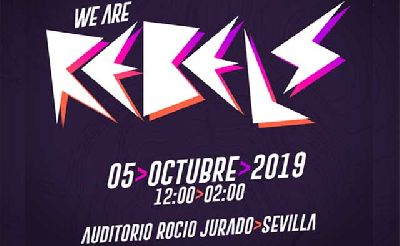 Cartel del festival We Are Rebels en Sevilla 2019
