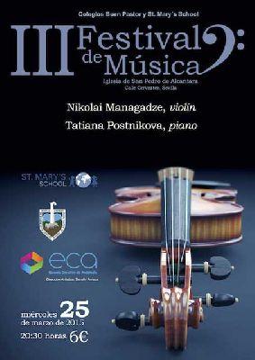 Concierto: Managadze y Postnikova en San Pedro de Alcántara Sevilla