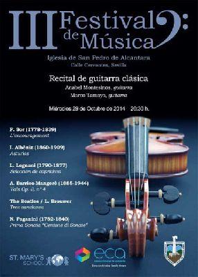 Concierto de guitarra clásica en San Pedro de Alcántara Sevilla