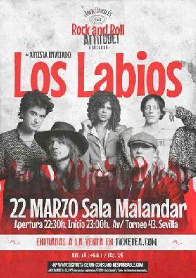 Cartel del concierto Rock and Roll Attitude! en Malandar Sevilla (marzo 2019)