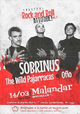 Cartel del concierto Rock and Roll Attitude! en Malandar Sevilla (marzo 2020)