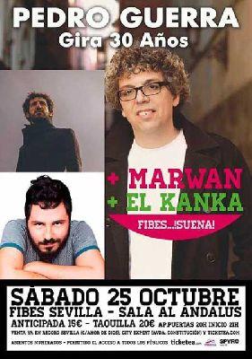 Concierto: Pedro Guerra, Marwan y El Kanka en Fibes Suena Sevilla