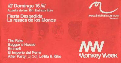 Fiesta despedida de Monkey Week en Malandar Sevilla 2016