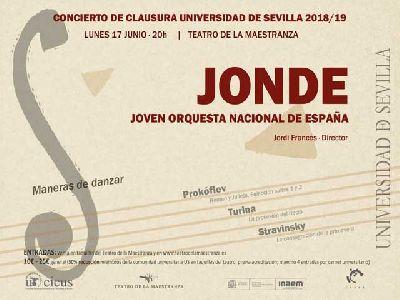Cartel del concierto fin de curso 2018 - 2019 de la Universidad de Sevilla