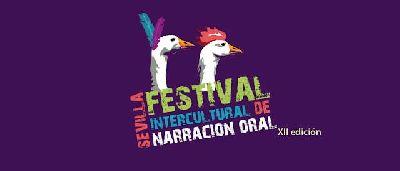 Cartel del XII Festival Intercultural de Narración Oral de Sevilla FINOS 2019