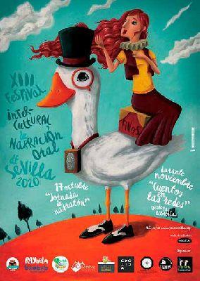 Cartel del XIII Festival Intercultural de Narración Oral de Sevilla FINOS 2020