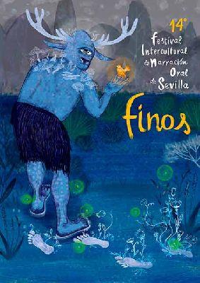 Cartel del XIV Festival Intercultural de Narración Oral de Sevilla FINOS 2021
