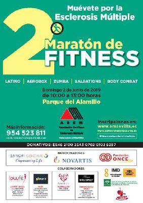Cartel del segundo Maratón Fitness Popular Muévete por la esclerosis múltiple en Sevilla
