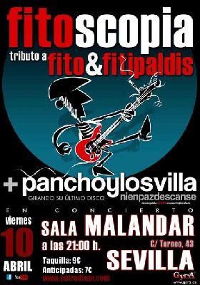 Concierto: Fitoscopia y Pancho y los Villa en Malandar Sevilla