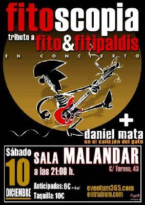 Concierto: Fitoscopia y Daniel Mata y el callejón del gato en Malandar Sevilla