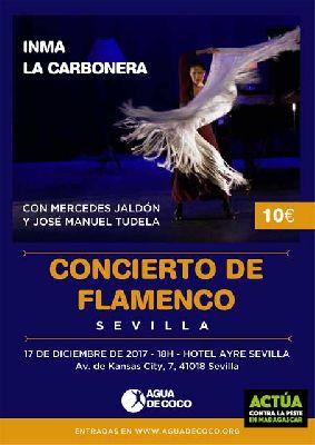 Flamenco: Inma La Carbonera a beneficio de Agua de Coco en Sevilla