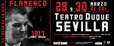 Flamenco: 1917 de Manuel Romero en el Teatro Duque Sevilla